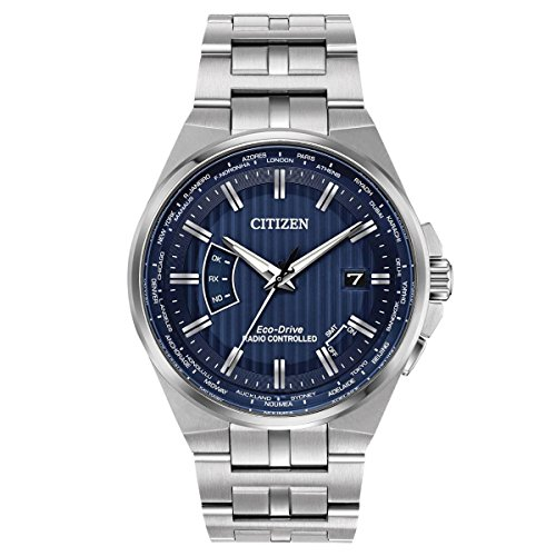 Men's Citizen Eco-Drive World Perpetual A-T Stainless Steel Watch