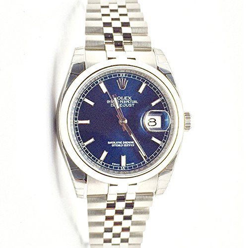 Rolex Datejust 36 Blue Dial Steel Mens Watch