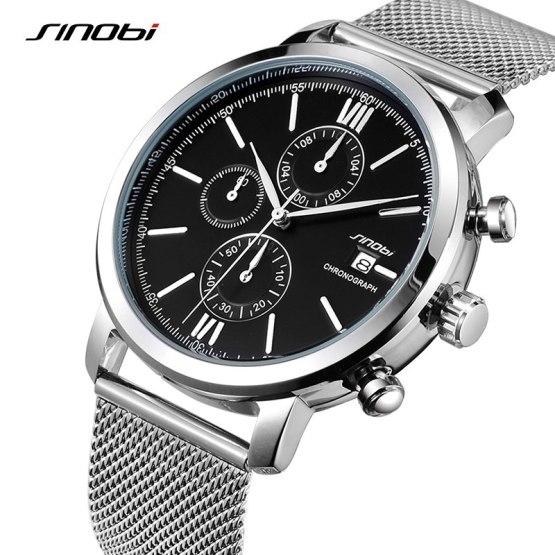 SINOBI Men Watches Sports Chronograph Men's Wrist Watches