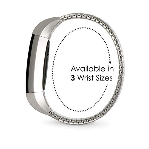Twist-O-Flex Metal Expansion Brushed Stainless Steel Stretch Band Replacement Twist-O-Flex Metal Expansion Brushed Stainless Steel Stretch Band Replacement for The Fitbit Alta and Alta HR in a Size XS by Speidel
