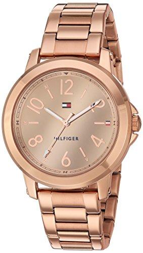 Tommy Hilfiger Women's Casual Sport Quartz Watch Strap, Rose Gold
