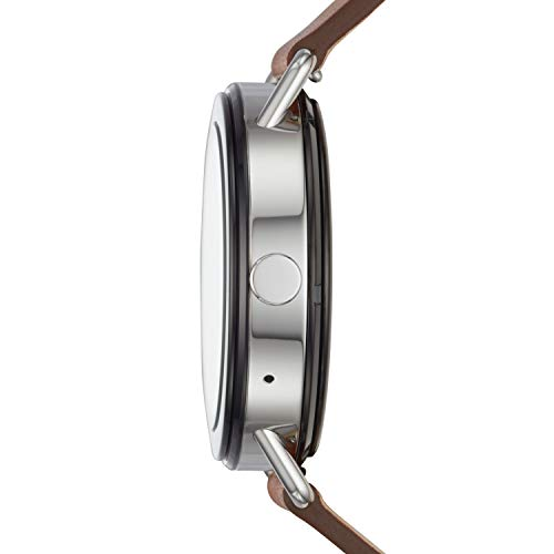 Skagen Connected Falster 1 Stainless Steel and Leather Smartwatch Skagen Connected Falster 1 Stainless Steel and Leather Smartwatch, Color: Silver-Tone, Brown (Model: SKT5003)