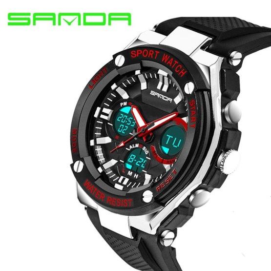 SANDA Brand Luxury Watch Men Shock Resistant Electronic Digital Watch