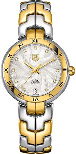 TAG Heuer Women's Link Analog Display Swiss Automatic Silver Watch