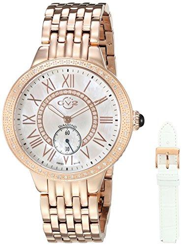 GV2 by Gevril Astor MOP Diamonds Womens Swiss Quartz Watch