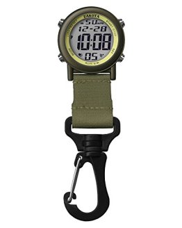 Dakota Digital Lightweight Backpacker Clip Watch (Green and Bronze)