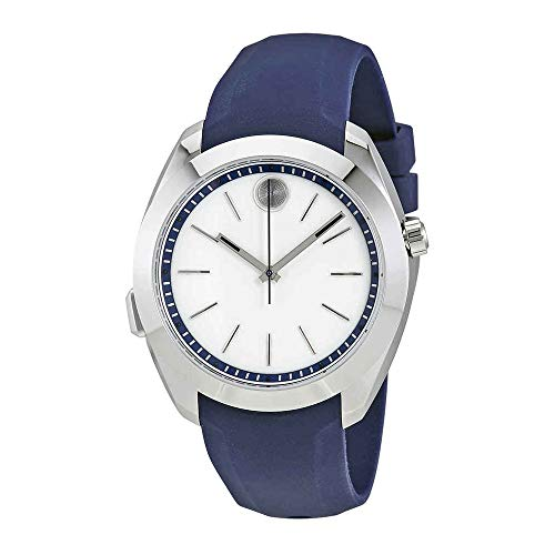 Movado Women's Swiss Quartz Stainless Steel and Silicone Casual Watch
