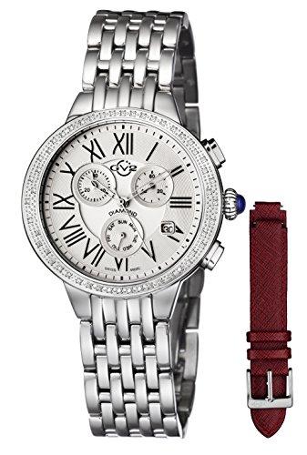 GV2 by Gevril Astor Chronograph Womens Diamond Swiss Quartz Watch