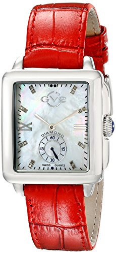 GV2 by Gevril Women's 9201 Bari Diamond-Accented Stainless Steel Watch