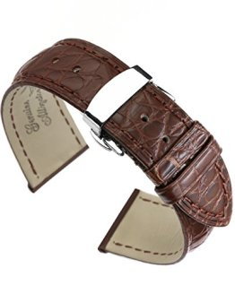 Crocodile Skin Leather Replacement Watch Straps/Bands