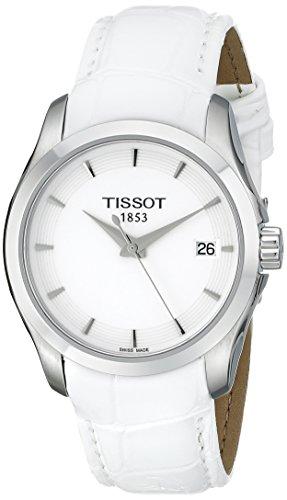 Tissot Women's Couturier Analog Display Swiss Quartz White Watch