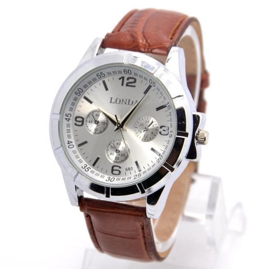 Hot Sale Pu Leather Watch Men Fashion Military Sports Quartz Wrist Watch