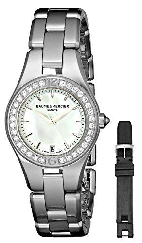 Baume & Mercier Women's Linea Mother-of-Pearl Dial Diamond Bezel Watch