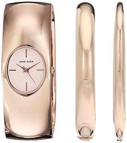Anne Klein Women's Japanese-Quartz Watch with Alloy Strap, Rose Gold