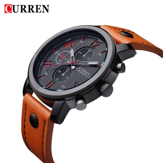 2017 CURREN Casual men Watches Brand Luxury Leather Men Military Watches