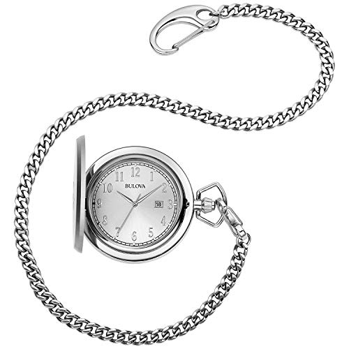 Bulova Men's Stainless Steel Analog-Quartz Pocket Watch