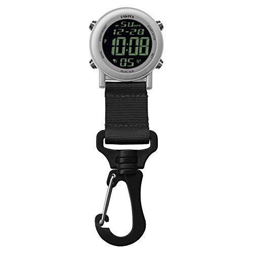 Dakota Digital Lightweight Backpacker Clip Watch (Silver and Black)