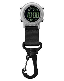 Dakota Digital Lightweight Backpacker Clip Watch (Silver and Black)