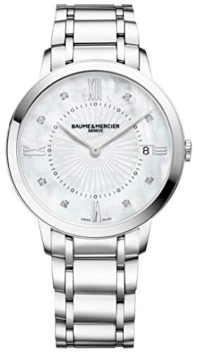 Baume & Mercier Classima Mother-of-Pearl Face Diamond Date Womens Watch