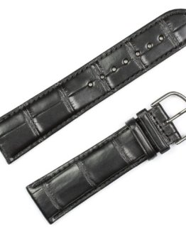 Genuine Alligator Watchband Black Watch band by deBeer