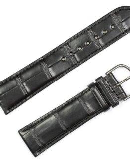 Genuine Alligator Watchband Black Watch band by deBeer