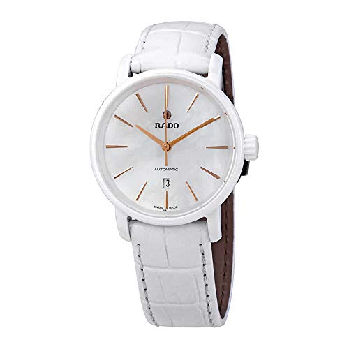 Rado DiaMaster Automatic White Mother of Pearl Dial Ladies Watch