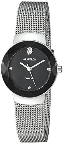 Armitron Women's Diamond-Accented Silver-Tone Mesh Bracelet Watch