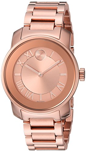 Movado Women s Swiss Quartz ROSEGOLD Plated Casual Watch Model