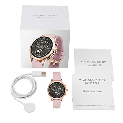 Michael Kors Women's Access Smart Watch Michael Kors Women's Access Runway Stainless Steel Silicone Smart Watch, Color: Rose gold-tone (Model: MKT5048)