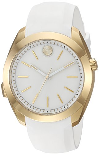 Movado Women's Stainless Steel Swiss-Quartz Watch with Silicone Strap