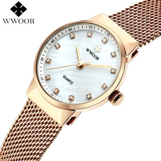 WWOOR Brand Luxury Women Waterproof Quartz Watch