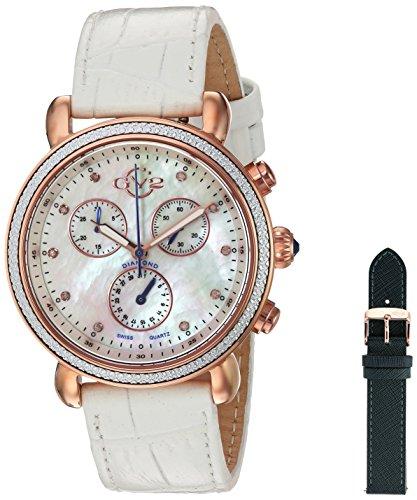 GV2 by Gevril Women's 9803 Marsala Analog Display Swiss Quartz White Watch