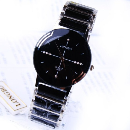 Fashion Brand Longbo Luxury Good Quality Ceramic Water Resistant Man Watch