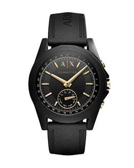 Armani Exchange Men's Hybrid Smartwatch, Black Silicone