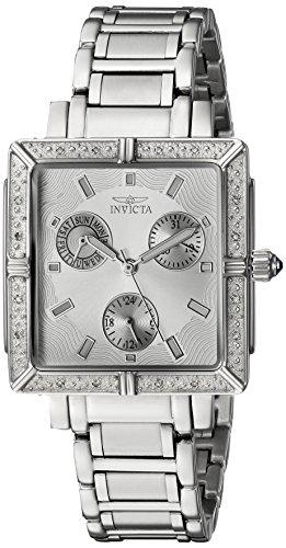 Invicta Women's Square Angel Diamond Stainless Steel Chronograph Watch