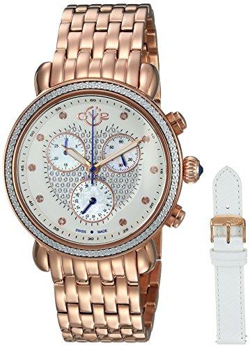 GV2 by Gevril Marsala Womens Diamond Chronograph Swiss Quartz Watch