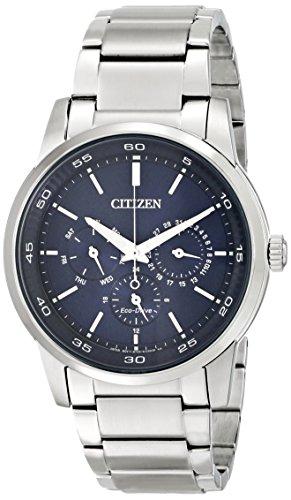 Citizen Eco-Drive Men's Dress Analog Display Silver Watch