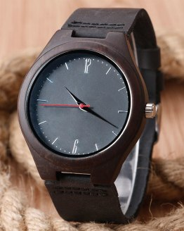 2016 Festival Memorial Day Gift Full Black Bamboo Wristwatch