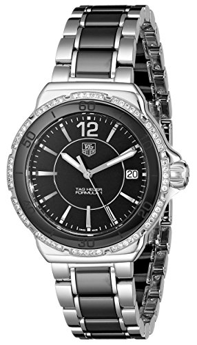 Tag Heuer Women's 'Formula 1' Black Diamond Dial Ceramic Watch