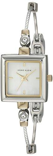 Anne Klein Women's Square Swarovski Crystal Accented Watch