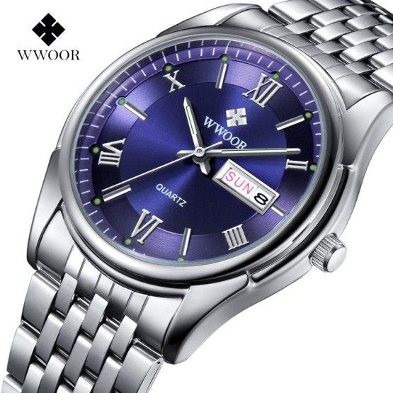 2016 New Luxury Brand Men's Date Day Quartz Watches