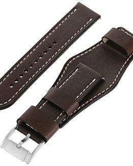 Fossil Leather Calfskin Dark Brown Watch Strap