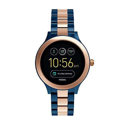 Fossil Q Women's Smartwatch, Color: Rose Gold-Tone, Blue