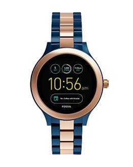 Fossil Q Women's Smartwatch, Color: Rose Gold-Tone, Blue