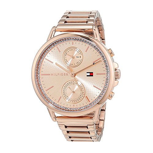 Tommy Hilfiger Carly Rose Gold Dial Stainless Steel Ladies Watch