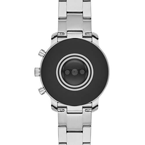 Fossil Men's Smartwatch Gen 4 Touchscreen Watch Fossil Men's Smartwatch Gen 4 Touchscreen Watch with Stainless-Steel Strap, Silver, 22 (Model: FTW4011)