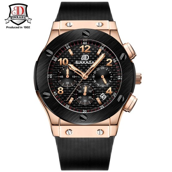 Men Watches New Chronograph Steel Watch