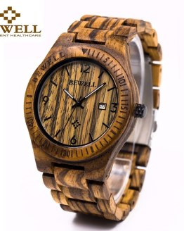 Casual BEWELL Wooden Watch For Men's Luminous Quartz Wrist Watches