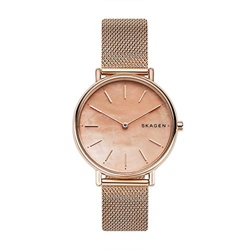 Skagen Women's Signatur Slim Mother-of-Pearl - Rose Gold One Size