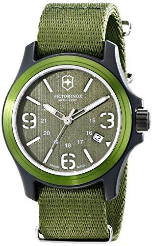 Victorinox Unisex Original Resin Watch With Green Nylon Band